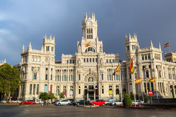 Fototapete - Cibeles Palace in Madrid