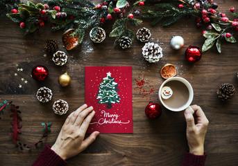Christmas wishing card