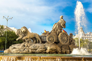 Fotomurales - Cibeles fountain in Madrid