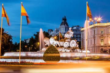 Wall Mural - Cibeles fountain  in Madrid