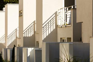 Modern semi detached houses in minimalistic shape