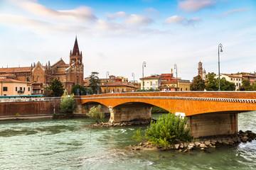 Fototapete - Cityscape of Verona, Italy