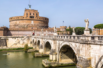Fototapete - Castel Sant Angelo  in Rome