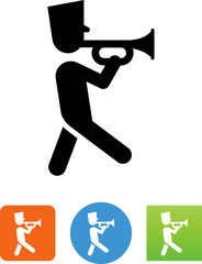 Marching Trumpet Player Icon