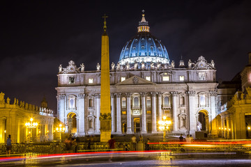 Fototapete - Vatican at night