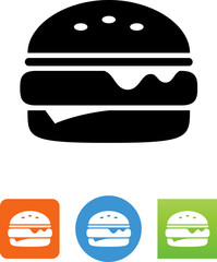 Vector Cheeseburger Icon