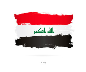 Flag of Iraq. Abstract concept