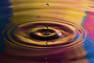colored water droplet close up composition photography