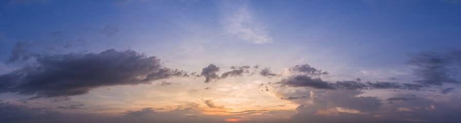 Beautiful sky in the evening panorama