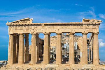 Parthenon temple on the Acropolis  in Athens