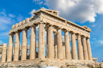 Parthenon temple on the Acropolis  in Athens