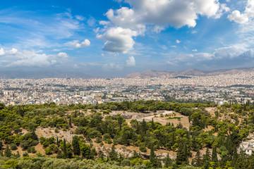 Panoramic view of Athens, Greece