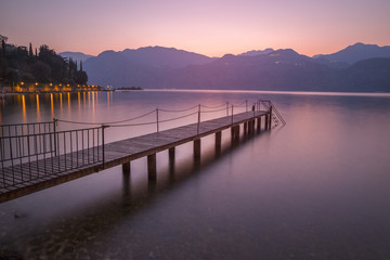 Garda lake at sunset, Malcesine, Verona, Veneto, Italy