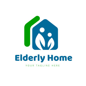 Elderly Care Logo, Real estate and people care logo,Vector Logo Template