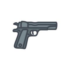 Police Equipment colored icon gun pistol