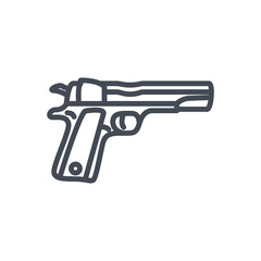 Police Equipment line icon gun pistol