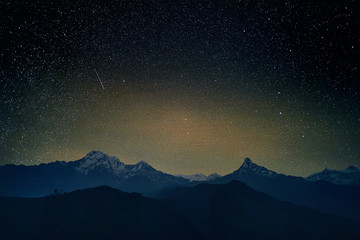 Stars in Himalayas