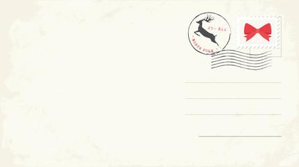 Blank Christmas Postcard. Vector Illustration