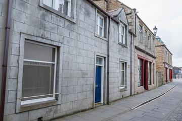 イギリスの古い村と石畳 Scottish old townscape and cobblestone