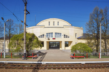 Railway station in a small town