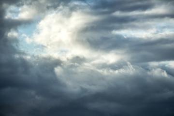Beautiful fluffy clouds