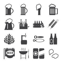 beer icons vector set. mug ,beer, pub