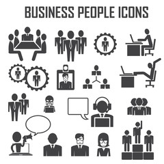 business people icons vector set.