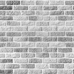 Seamless repeatable brick wall pattern background, vintage gray brickwork