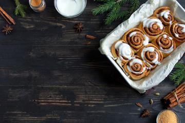 Cinnabon rolls for Christmas