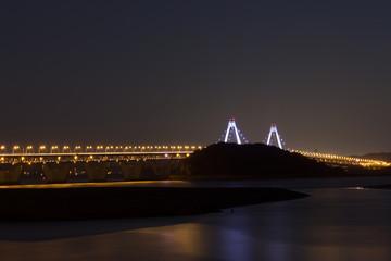 Yeongjongdo bridge in south korea.bridge night view.
