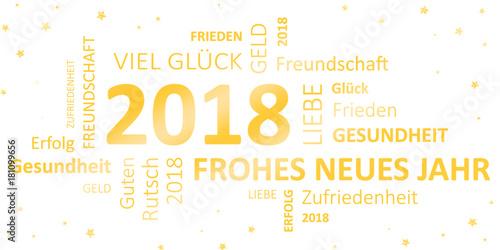 Glückwunschkarte Silvester 2018 - Guten Rutsch und ein frohes neues ...