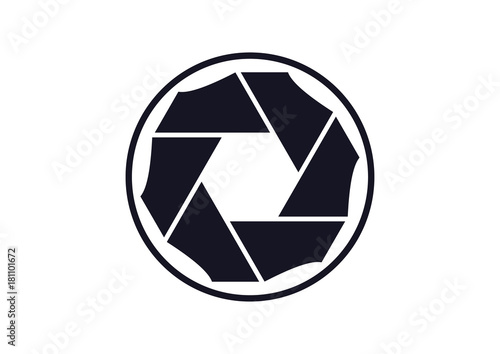 quotunique black lens camera photography icon logo symbol