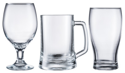 Different beer glasses.