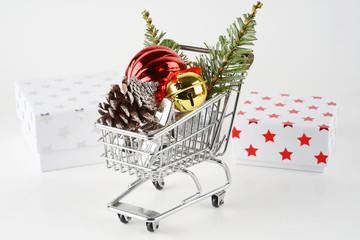 Christmas shopping concept
