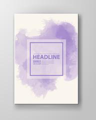 Watercolor purple color design banner
