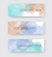 Vector banner shapes collection isolated on white