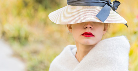 fashion stylish woman outdoor