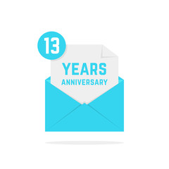 13 years anniversary icon in open letter