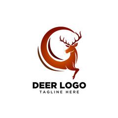 Globe run deer logo