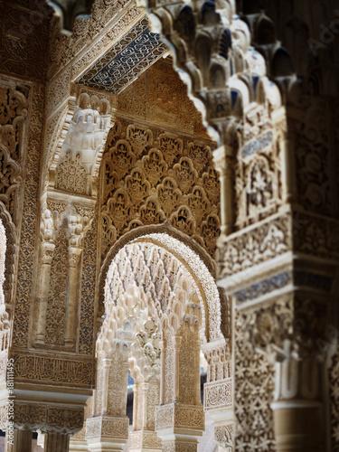 Patio De Los Leones Alhambra Granada Spain Stock Photo And