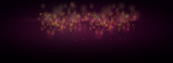 Christmas bokeh background defocused lights. Glowing techno abstract background