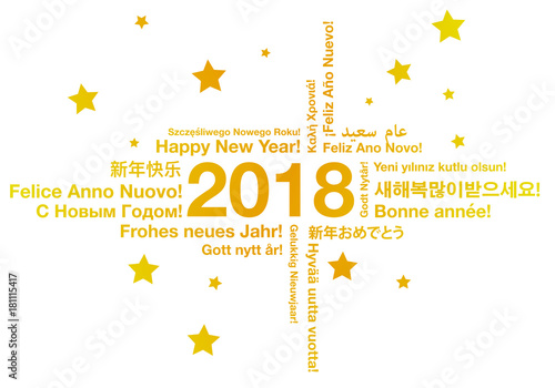 Happy new year in different languages greeting card concept stock happy new year in different languages greeting card concept m4hsunfo
