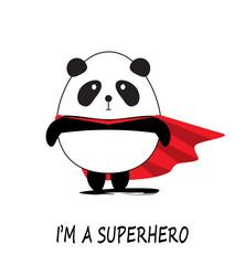 Cute Little Panda Superhero