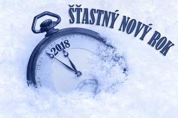 2018 greeting in Czech language, Happy New Year, Stastny novy rok text, New Year Czech
