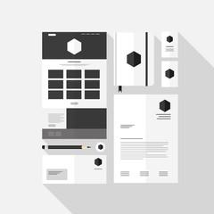 Business stationery design vector set