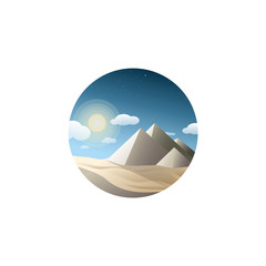 Pyramid landscape vector illustration