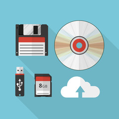 Storage media vector illustration