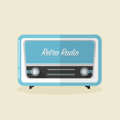 Retro radio vector illustration