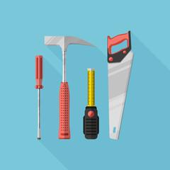 Tools set vector illustration