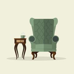 Tea time vector illustration